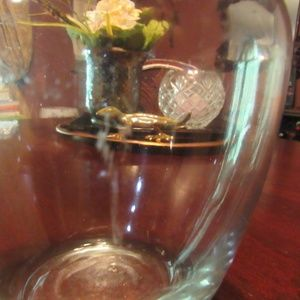 Vintage Accents - Vintage Small Fluted Clear Smooth Glass Vase